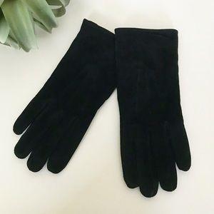 Suede Black Stitched Gloves